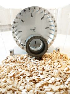 Inside view of a RFID mouse running wheel