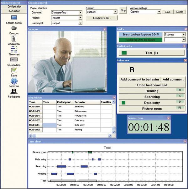 biobserve spectator observational data acquisition screen
